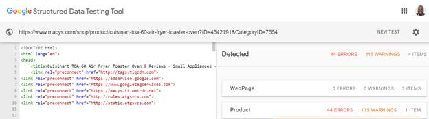 dati strutturati schema google